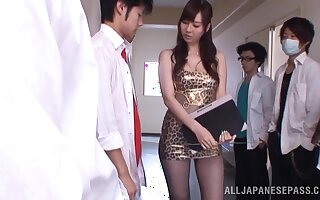 Sincere boobs Asian pamper Yui Tatsumi gets fucked by lot of guys