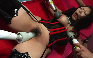 Eri Kitahara has a thing be beneficial to being tied up mean while guys are drilling go wool-gathering hairy pussy