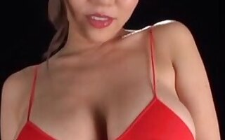 Provocative Japanese model Saijou Ruri teases with will not hear of hulking boobs