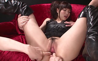 Megumi shino's pussy and ass fucked with a vibrator
