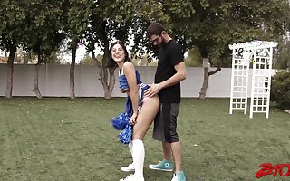 Video be advisable for HOT Asian cheerleader Kendra Spade getting fucked abiding