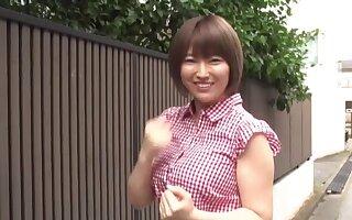 Japanese girl with big natural tits being fucked - Matsumoto Nanami