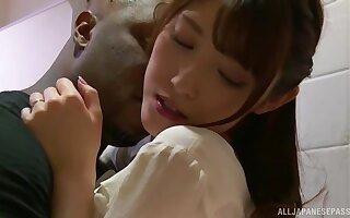 Interracial fucking between a black dick and Japanese Iioka Kanako