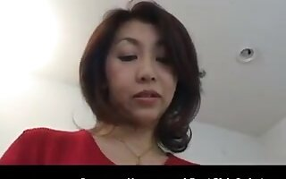 Horny Japanese Asian Cougar Fucked And Creampied