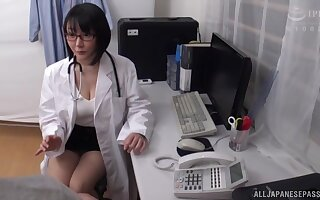 Busty Japanese doctor Hanyuu Arisa desires to be fucked hard and deep
