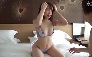 Japanese cuttie adores sex in all different poses with a dude