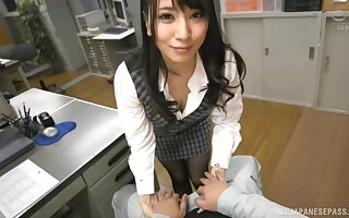 Sonoda Mion adores having hard fuck with her horny boss in the office