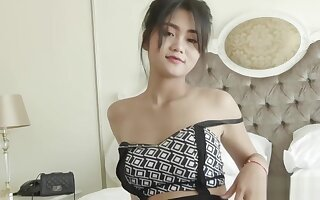 Adorable Thai amateur has her tight pussy stuffed