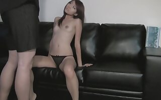 Asian Amateur Plays With Cock at Photoshoot