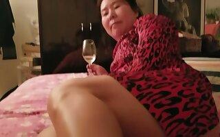 Asian Milf Beauty Red Dress Feet