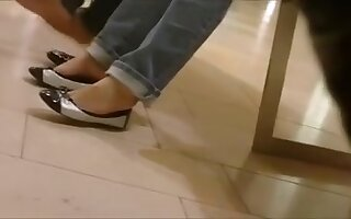 Candid Oriental Legal Age Teenagers Hot Shoeplay and Feet