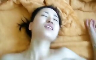 Hot Chinese babe needs it deeper