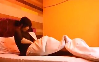 Japanese housewife cheats on her husband with a co-worker
