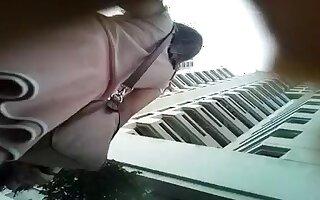pink skirt white pantie