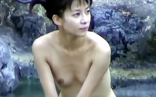 Stunning Japanese Girl Takes A Bath And Gets Caught On Came