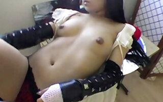 Naked Asian Babe Lipstick Tease - DaGFs
